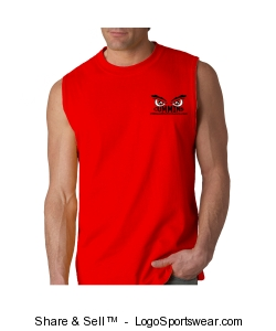 Mens Shooter Shirt - Red Design Zoom